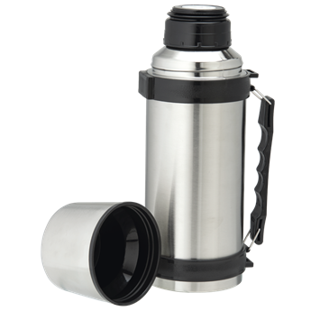 Picture of 1L Stainless Steel Travel Flask with Carry Handle