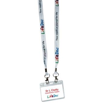 Picture of 20mm Dye Sublimation Open Lanyard With Pouch 20mm