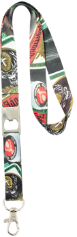 20mm Dye sublimation lanyard with a metal bottle opener and snap hook, LAN022