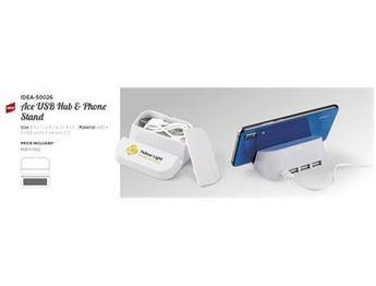 Ace USB Hub & Phone Stand, IDEA-50026
