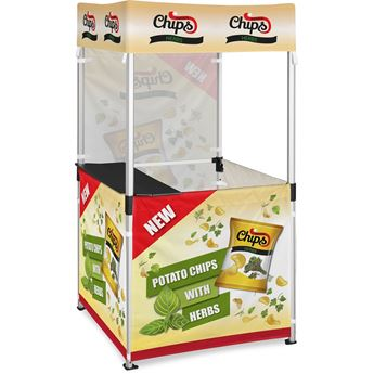 Ovation Gazebo 1M X 1M Kiosk 3 Half-Wall Skins 1 Full-Wall Skin, DISPLAY-2006