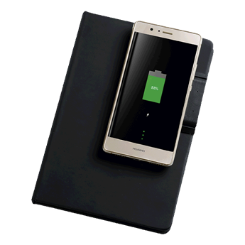 A5 PU Notebook With Removable Wireless Charger, BE0111