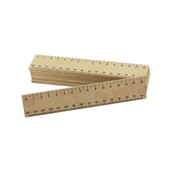15cm Wooden Ruler, ECO30006