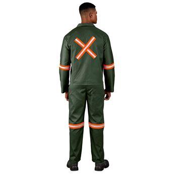 Acid Resistant Polycotton Conti Suit - Reflective Arm, Legs & Back - Orange Tape, ALT-11064
